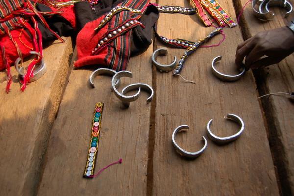 Bracelets at the Er village