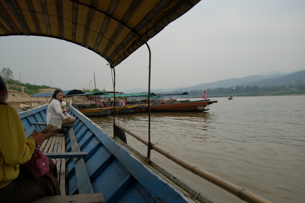 The boat to cross the Mekong