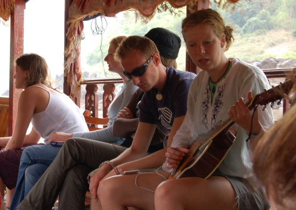 Jam session on the boat to Luang Prabang