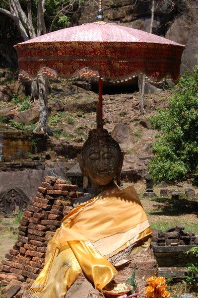 Happy shaded Buddha